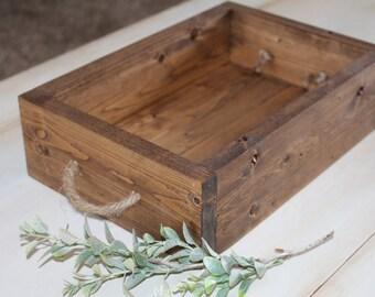 Rustic Tray, Wood Tray, Coffee Table Tray, Farmhouse Home Decor, Rustic Decor