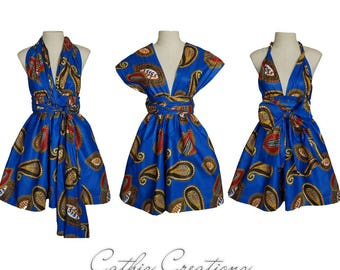 Ankara Infinity Dress, CHOOSE YOUR FABRIC   ***Other Fabrics Available***