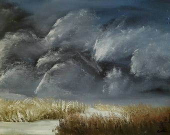 "Oil painting landscape print 8.5""x11"" print -Thunder's Throne-"