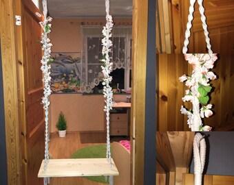 Modern Handmade Macrame Swing
