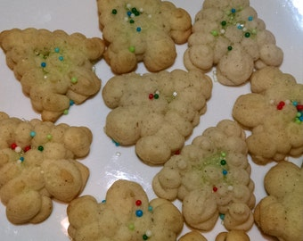 Vanilla Chai Spritz Cookies