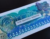 Handmade Art Card - With Heartfelt Sympathy