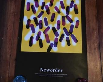 New Order Fine Time Factory Records Peter Saville 1988 Original Super Rare Vintage Music Poster