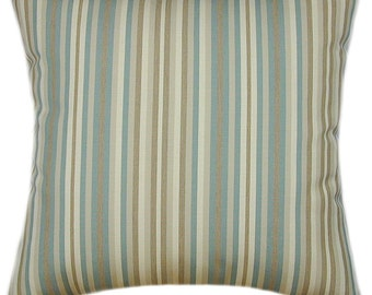 Sunbrella Gavin Mist Indoor/Outdoor Striped Pillow