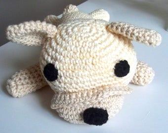 Crochet cream dog