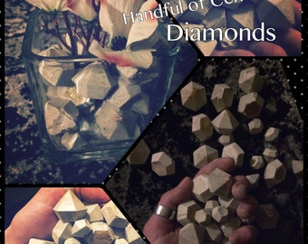 Handful of Cement Diamonds