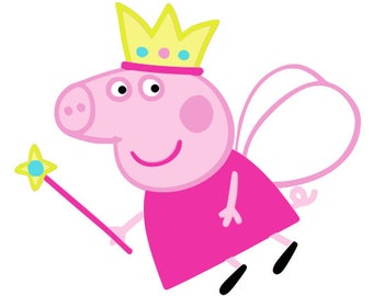 Peppa pig svg, cartoon svg, dxf, cricut, silhouette cutting file, download, decal