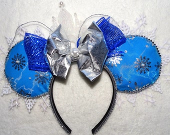 Mickey Mouse Ears Minnie Mouse Headband Disney's Frozen Inspired Queen Elsa's castle Headband