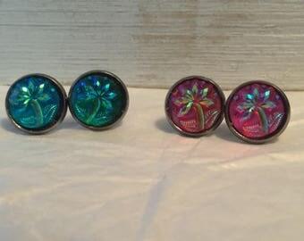 Various palm tree earrings