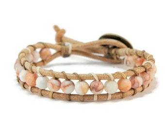 Boho Samiya * Jasper Single Boho Style Wrap Bracelet