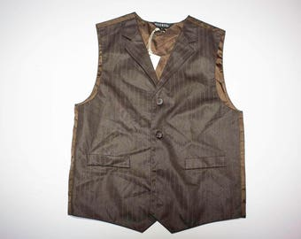Brown waistcoat vest with blue