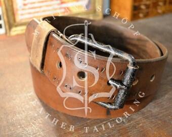 Belt leather belt original Upcycling from 20s 30s transmission belt vintage unique in the destroyed look Leatherbelt belt