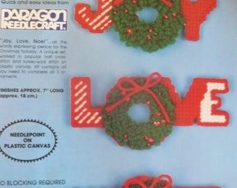 Christmas Plastic Canvas Needlepoint Ornament Kit - Set of 3