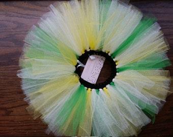 Yellow green & white sparkly tutu newborn 3mos 6mos 9mos john deere or tinker bell