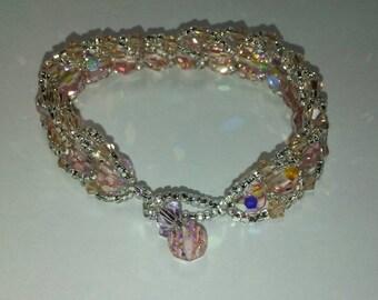 Pink Shimmer Bracelet - 7 1\2 inches long