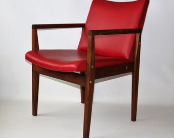 1960s Solid Walnut Lounge Armchair