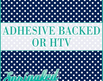 Navy Blue & White Polka Dots Pattern #1 Adhesive or HTV Heat Transfer Vinyl for Shirts Crafts and More!