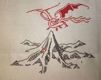 The Hobbit The Lonely Mountain cross stitch