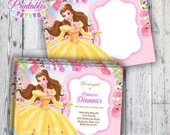 Beauty and the Beast  Printable Invitation / Princess Beauty Birthday Invitation