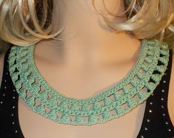 Knitted necklace,hand knitt necklace, knitted necklace cotton,Fashion necklace,knitted openwork necklace