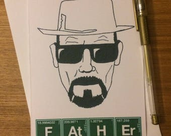 Breaking Bad Father's Day Greetings Card - Walter White - Bryan Cranston - Cult TV Reference