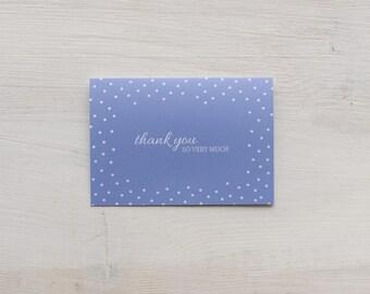 Thank You Card Set | Blue Polka Dot - Set of 8