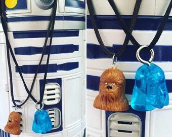 Star Wars inspired necklaces! Chewie and Obi Wan Kenobi!