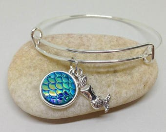 Mermaid Bangle Bracelet, Mermaid Bracelet, Bridesmaid Gifts