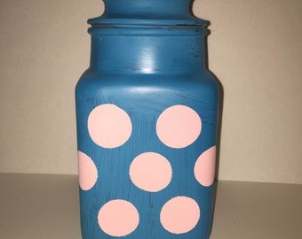 Polka dot candy jar