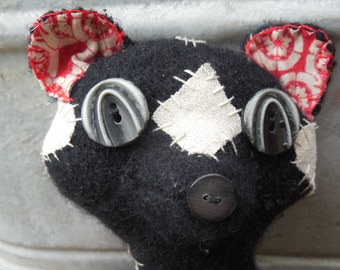 Little Black Skunk Softie Made To Order