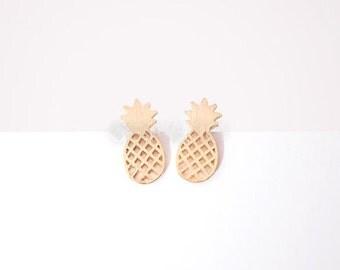 SALE! Pineapple fruit was modern trendy jewelry 18K gold plated Ninon earrings