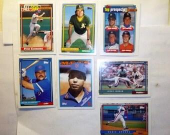 7 Topps baseball cards(6-1992 & 1-1988)R.Sandberg,T.LaRussa et al