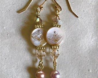 2 sided pearl earrings