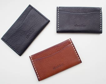 Leather Card Case, Leather Slim Wallet, Leather Card Holder