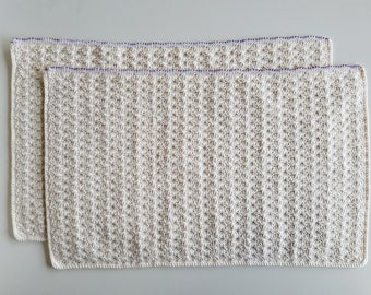 Crochet Mat Set with Beads by JiYoung Noh