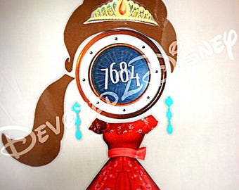 Disney Cruise Line Elena of Avalor Stateroom Door Princess Magnet Laminated /Fish Extender Gift Decoration