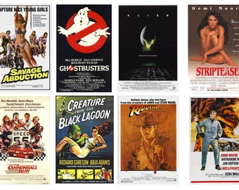 1:25 G scale model movie theater posters assortment 2