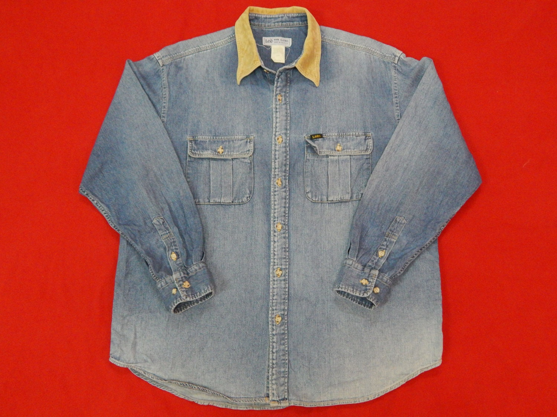 efa8c5f3 Vintage Lee Denim Authentic Denim Shirt Large Size