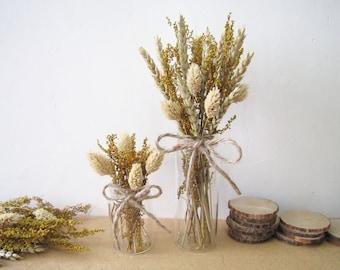 Dried Flowers in Glass Jar, Christmas Decor, Christmas Gift, Rustic Home Decor, Rustic Mantel Decoration, Wedding Decor, Wedding Centerpiece
