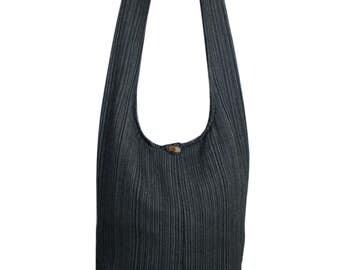 Plain Colro Black Hippie Bag Handmade Crossbody Bag Shoulder Sling Bag Messenger Bag Boho bag Purse