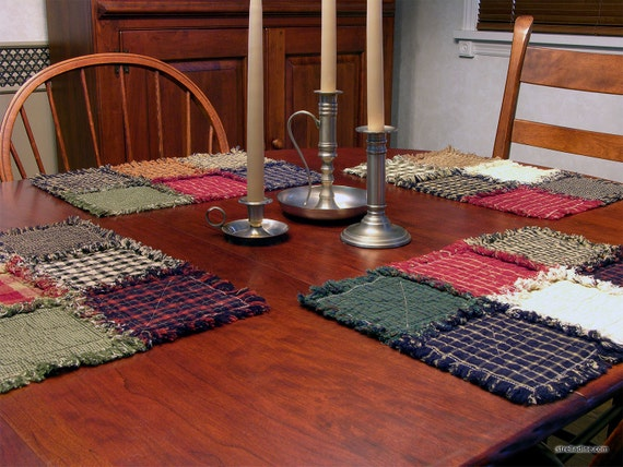 Placemats Ready To Ship Rustic Handmade Country