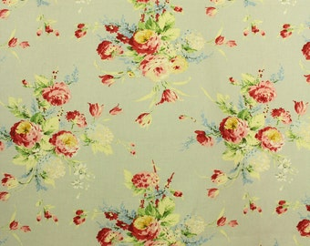 Cath Kidston floral print cotton fabric, unused, 1990s, REDUCED PRICE