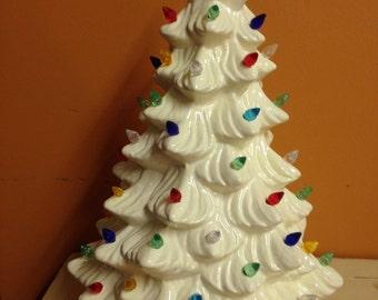 Large Holland Ceramic Lighted Christmas Tree