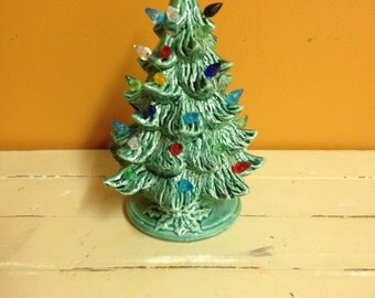 Mini Ceramic Lighted Christmas Tree