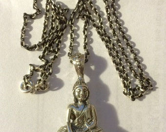 925 Sterling Silver Buddha Pendant