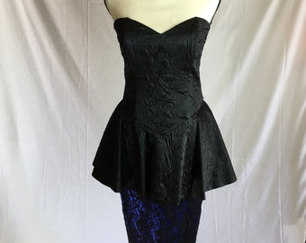 1980's Strapless Jessica McClintock Dress