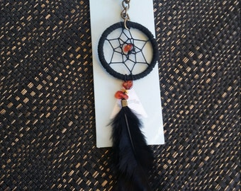 Dreamcatcher feather keyring