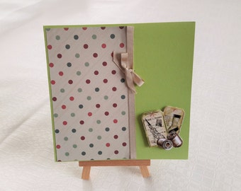Mother's day or birthday card: Green |    -Spirit couture-