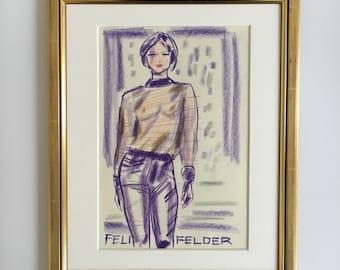 "Fashion illustration original ""FelderFelder II"""
