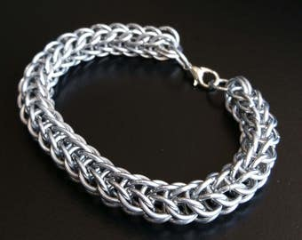Full Persian Chainmail Men Bracelet Chainmaille Silver Aluminium Handmade Women Gifts (SALE)